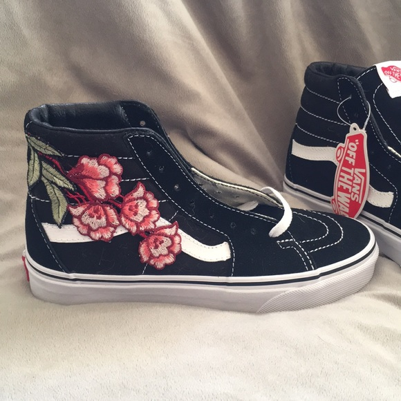 628c53c89e7a07 VANS custom Rose Flower High Tops
